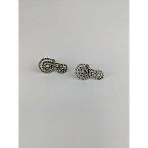 Vintage Sterling Silver Twist Scroll Earrings